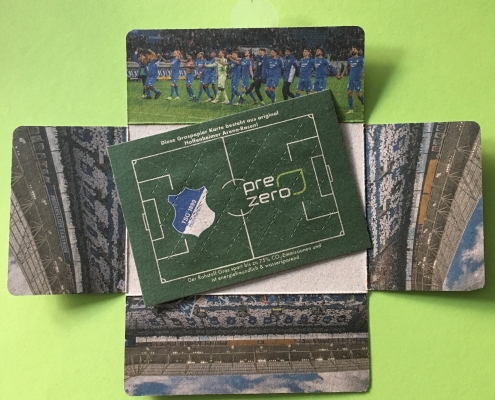 Graspapier Nature-Liner aus Rasenschnitt Fußball Hoffenheim Bayern München
