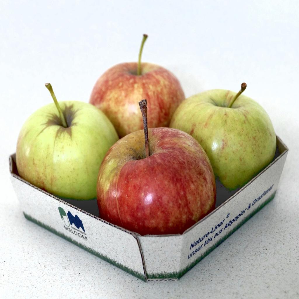 Äpfel in Schale aus Nature-Liner Graspapier