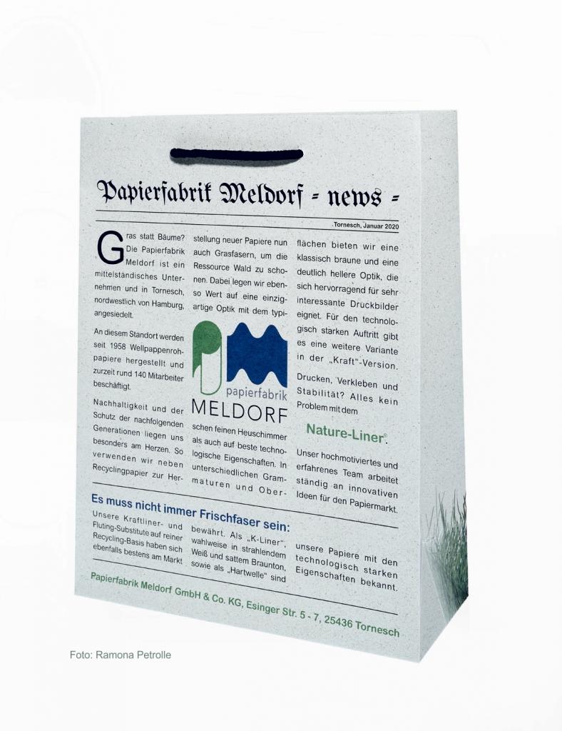 Tüte aus Nature-Liner Graspapier Papierfabrik Meldorf