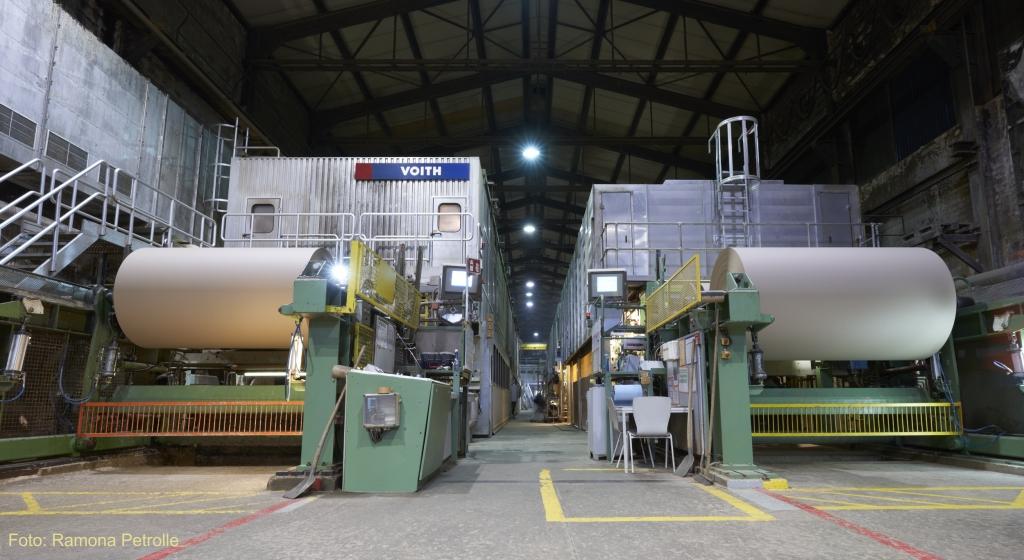 Papiermaschinen Papierfabrik Meldorf