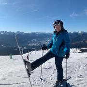 Marie Stege im Schnee