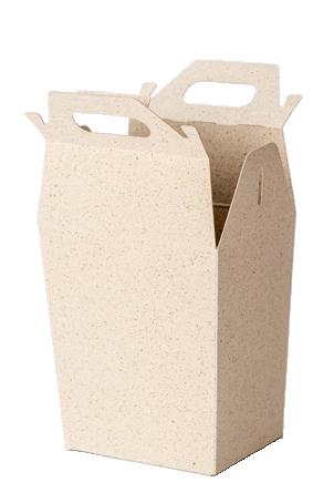Graspapier Karton Box geöffnet
